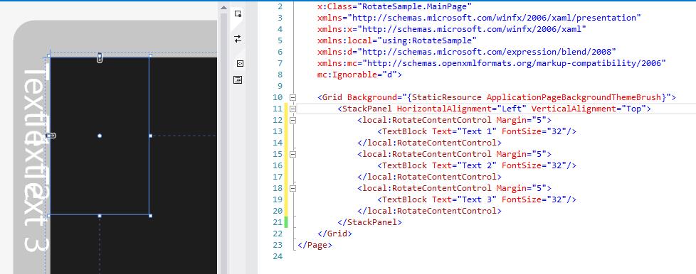 SharpGIS   Rotating Elements in XAML While Maintaining